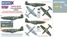 Montex #K32282 1/32 North-American P-51D Mustang Paint Mask for Tamiya