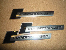 3 x AUDI SUPERPOTENTE Nero e Argento BADGE S1 S3 S4 S5 RS3 RS4 RS5 RS TT S-LINE