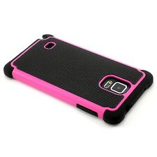 New Hot Pink Heavy Duty Protection Hard Case For Samsung Galaxy Note 4 N9100