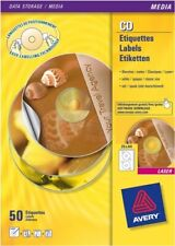 Avery Opaque Classic Size CD Labels [Pack 200] Printable Laser Labels L6043-100