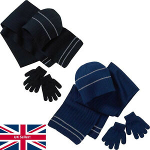 Back To School Boys Girls Hat Scarf Gloves Glow In The Dark Sets Singles Colours