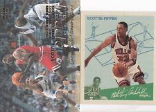 2 Cards - Scottie Pippen - 1997-98 Fleer #261 & 1997-98 Fleer Goudey Greats #10