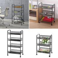 3/4 Tier Bathroom Rack Stand Cart Trolley Storage Wheel  Kitchen Home Organizer