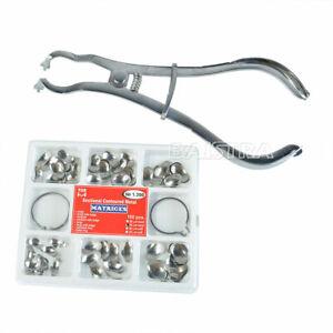 TOR VM Dental Sectional Contoured Matrices 35 μm 100Pcs&Ring Metal Matrices
