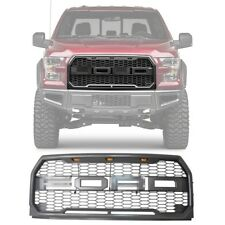 For 2015-2018 Ford F150 Raptor ABS Front Bumper Grille LED Style With F&R Letter