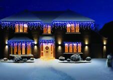 NUEVO 480 LED muy brillantes azul y blanco Carámbanos Nieve Navidad
