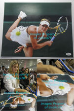 *SEXY* Eugenie Bouchard Genie signed 11x14 Wimbeldon Photo Exact Proof JSA COA