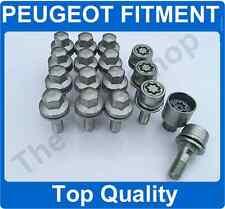 X12 12x1.25 boulons de roue en alliage et verrous pour Peugeot 405 montage boulons Argent