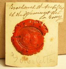 Famille d'Andilly Cachet de cire armoiries seal Sceau tampon héraldique blason
