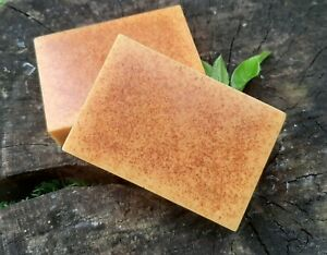 NANNY GOATS SCRUB - TWO BARS OF HANDMADE TURMERIC GOATS MILK SOAP