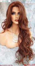 LONG WAVY HAND TIED LACE FRONT WIG  T4.30 *STUNNING EYE CATCHING USA SELLER 485