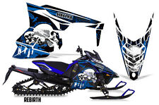 SIKSPAK Yamaha SR Viper RTX Sled Wrap Snowmobile Sticker Decal Kit REBIRTH BLUE