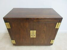 Henredon Oak Campaign Scene One Server Bar Liqour cabinet Storage Console C