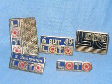 Metal Pin Badge Button Enamel Loto Advertising Badge x5 Job Lot