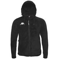 Kappa Men's Ski Fleece Hooded 6Cento Skiing Winter Jacket Hoodie - Black - New