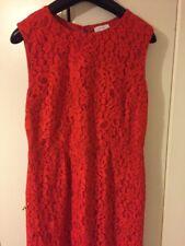 Vestido De Encaje Rojo Talla 12
