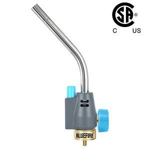 BLUEFIRE Trigger Start MAPP MAP Propane Gas Welding Torch Head Extend Tube CSA