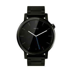 Motorola Moto 360 2nd Gen 46mm Stainless Steel Case Black Link Bracelet