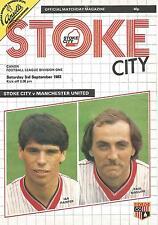 Football Programme - Stoke City v Manchester United - Div 1 - 3/9/1983