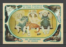St Thomas & Prince Islands 1981 Sc#637 Intl. Year of Child-Cats MNH Imp. S/S $9