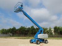 2012 Genie S-60X 60' 4WD Diesel Telescopic Boom Lift Aerial Generator bidadoo