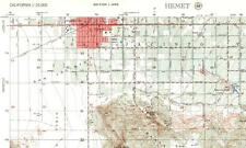 1956 Hemet, California AMS Topographic Map