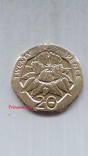 Raro - 2006 * UNC * Ascensión Islas Ébano Flor 20 Peniques Moneda de 20P-KM#21