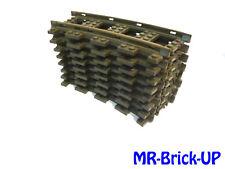 8 x Lego® 9V 9 Volt Eisenbahn Schienen Kurve gebogene - Kreis- 4520 (L516)