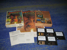Indiana Jones Fate of Atlantis PC 1992 Lucas Arts primera edición Big Box m. póster