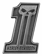 HARLEY DAVIDSON NUMBER 1 SKULL PIN DARK CUSTOM BIKER JACKET VEST MOTORCYCLE PIN