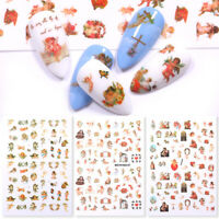 3D Nail Sticker Angel Flower Series Nail Art Transfer Decals Decoration Tips DIY