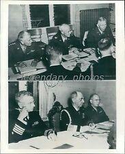 1945 World War II Joint Chiefs of Staff Meet Original News Service Photo