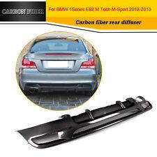 Carbon Fiber Rear Lip Diffuser Fit For BMW E82 M Tech M Sport  125i 128i 135i