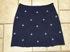 EP Pro Navy W/Lt Blue Enbroidered Bumblebees Tennis Golf Skirt Skirt Sz 8 #2628