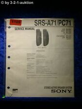 Sony Service Manual SRS A71 / PC71 Active Speaker System (#1109)