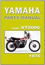YAMAHA Parts Manual XT500 XT500C 1976 Replacement Spares Catalog List