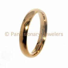Tungsten Carbide Ring 4MM 18K Gold IP Dome Wedding Band Thumb Midi Pinky