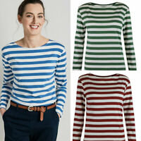SEASALT Cornish Sailor Shirt Organic Cotton Striped Long Sleeve Breton Top
