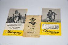 Vintage Group Lot of Shakespeare Antique Fishing Pocket Catalogs JJ32