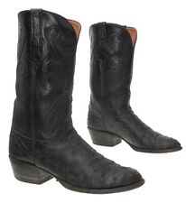 LUCCHESE Cowboy Boot 9 D Mens EXOTIC Full Ostrich Leather VTG Western Boots USA