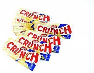 Full Box 12 Bars Nestle Crunch Chocolate- White Original Chocolate Bar 100g