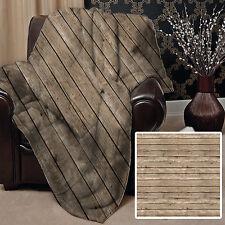 147x147cm Doux Couverture polaire Housse Effet Bois Design lit canapé chaise