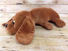 "Vtg 80s Handmade Pound Puppies Big 17"" Brown Corduroy Plush Stuffed Animal"