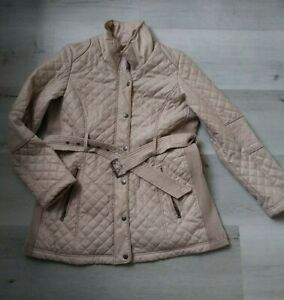 Maternity Winter Coat jacket Pea In The Pod size Large barn horse style quilted