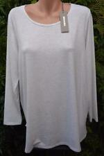 SUSSAN White Marle Cream TOP SIZE XXL Stylish Rounded Hem NEW RRP$49.95 L/Sleeve