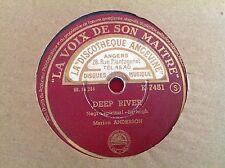 78 rpm - MARION ANDERSON - Deep river - la voix de son maitre K 7451