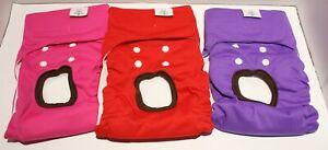 CuteBone MEDIUM Washable Reusable Dog Diapers - Several Options!