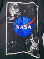 NASA Chemistry Long Sleeve Graphic T-Shirt | Men's Large | Black w/ Space Logos