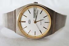 Armbanduhr Herren ANKER Datum vintage Stainless Steel Armband Uhr analog
