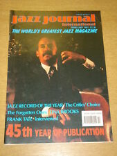 JAZZ JOURNAL INTERNATIONAL VOL 45 #2 1992 FEBRUARY TINA BROOKS FRANK TATE